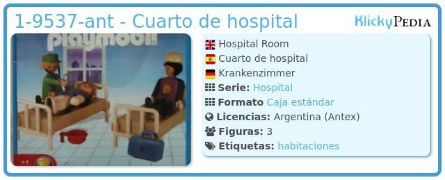 Playmobil 1-9537-ant - Cuarto de hospital