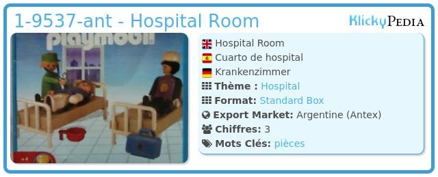 Playmobil 1-9537-ant - Hospital Room