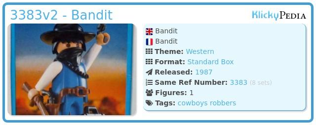 Playmobil 3383v2 - Bandit