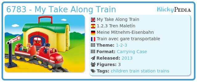 Playmobil 6783 - My Take Along Train