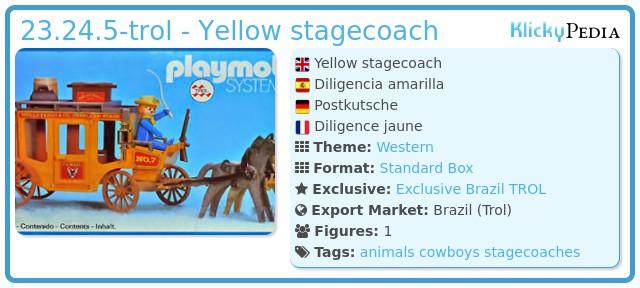 Playmobil 23.24.5-trol - Yellow stagecoach