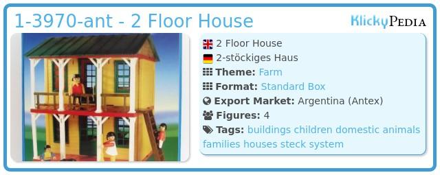 Playmobil 1-3970-ant - 2 Floor House