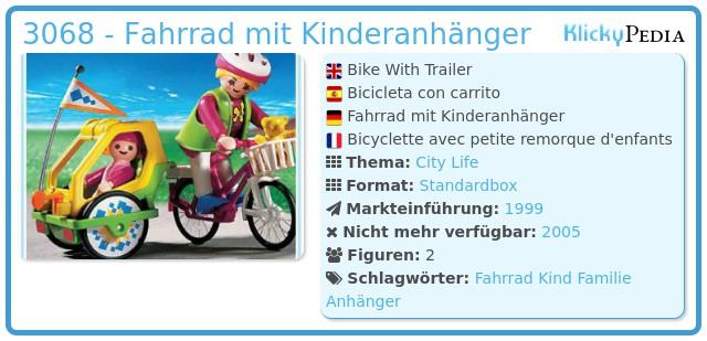 Playmobil 3068 - Fahrrad mit Kinderanhänger