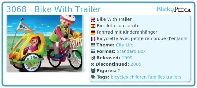 Playmobil 3068 - Bike With Trailer