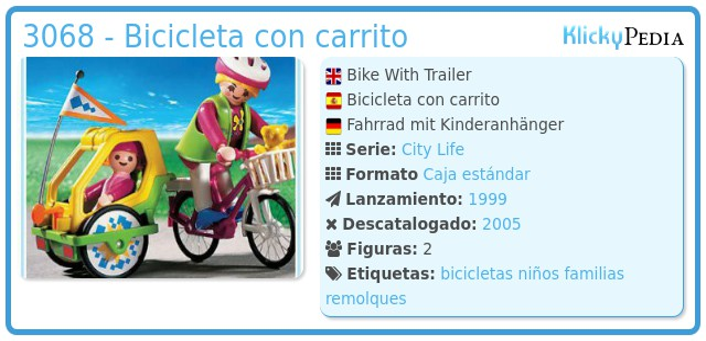 Playmobil 3068 - Bicicleta con carrito
