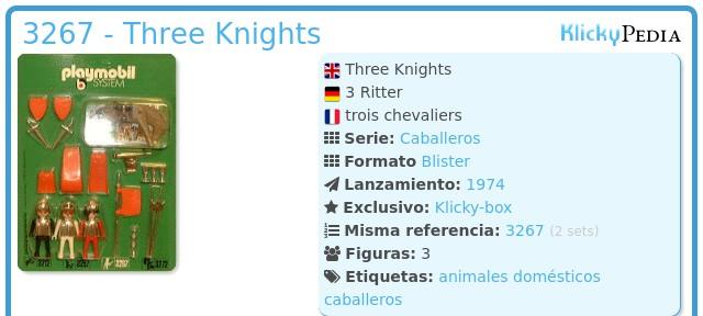 Playmobil 3267 - Three Knights