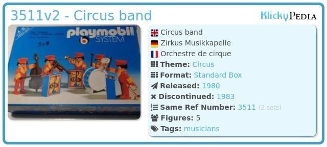 Playmobil 3511v2 - Circus band