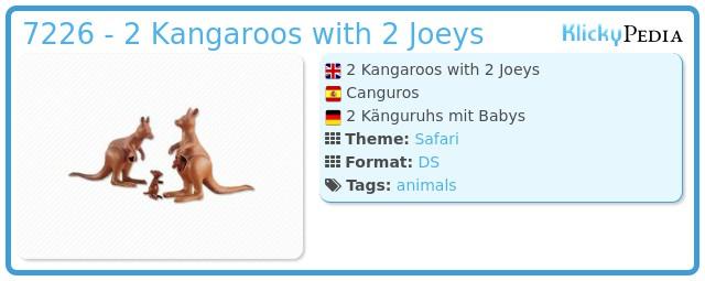 Playmobil 7226 - 2 Kangaroos with 2 Joeys