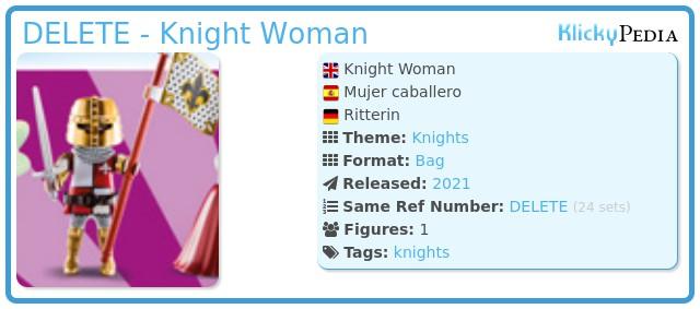 Playmobil 70149-11 - Knight Woman