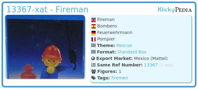 Playmobil 13367-xat - Fireman