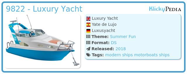 Playmobil 9822 - Luxury Yacht