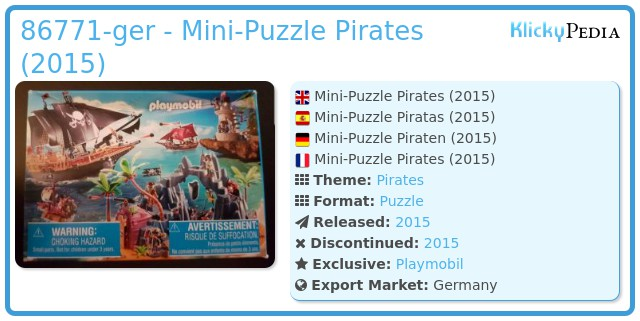 Playmobil 86771-ger - Mini-Puzzle Pirates (2015)