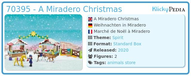 Playmobil 70395 - A Miradero Christmas