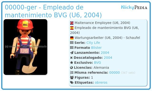 Playmobil 00000-ger - Empleado de mantenimiento BVG (U6, 2004)