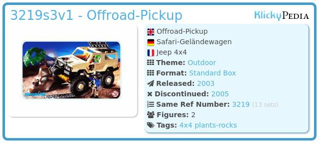 Playmobil 3219s3v1 - Offroad-Pickup