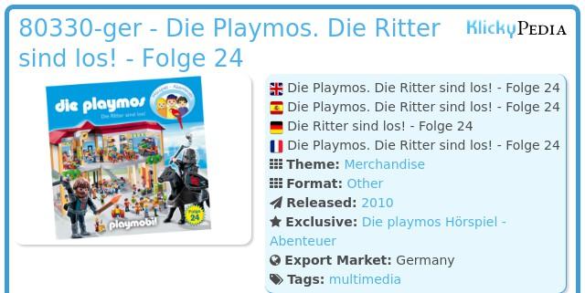 Playmobil 80330-ger - Die Playmos. Die Ritter sind los! - Folge 24