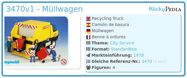 Playmobil 3470v1 - Müllwagen