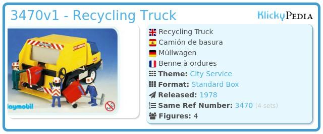 Playmobil 3470v1 - Recycling Truck