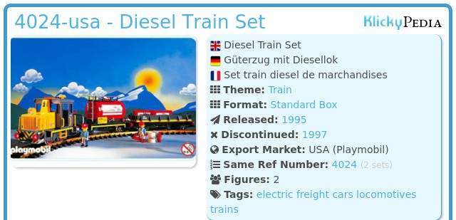 Playmobil 4024-usa - Diesel Train Set