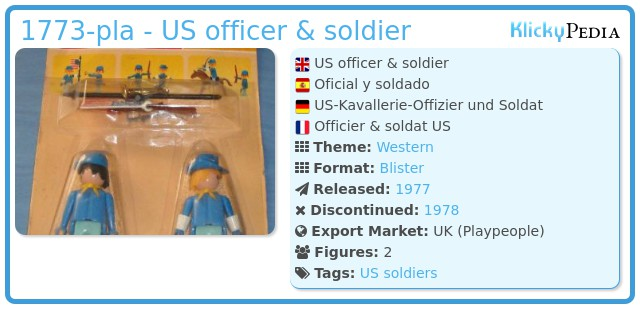 Playmobil 1772-pla - US officer & soldier