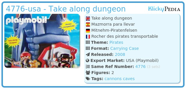 Playmobil 4776-usa - Take along dungeon