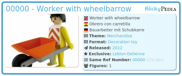 Playmobil 00000 - Worker with wheelbarrow