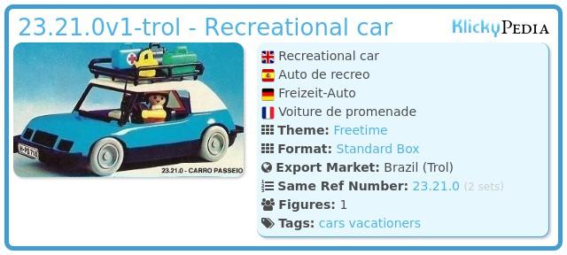 Playmobil 23.21.0-trol - Recreational car