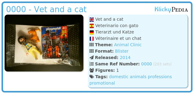 Playmobil 0000 - Vet and a cat