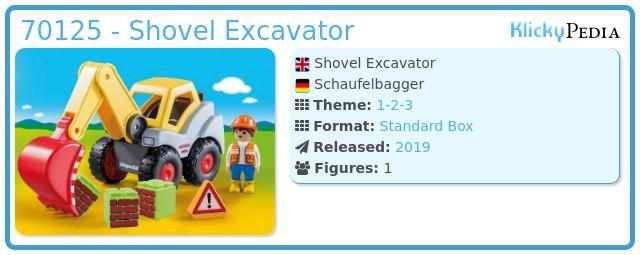 Playmobil 70125 - Shovel Excavator