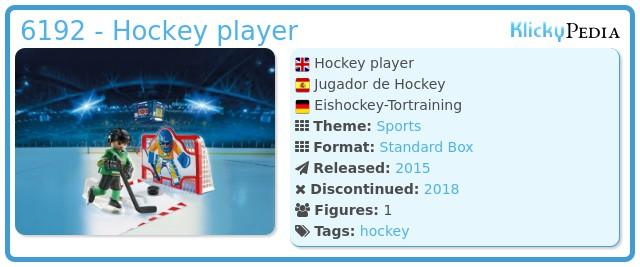 Playmobil 6192 - Hockey player