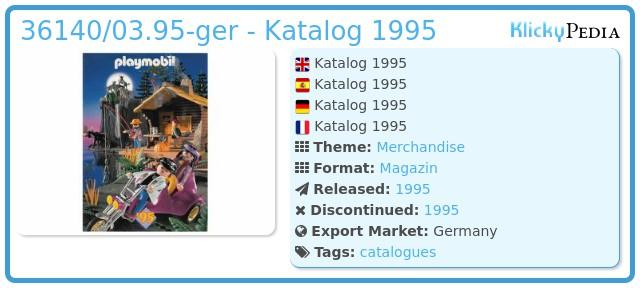 Playmobil 36140/03.95-ger - Katalog 1995