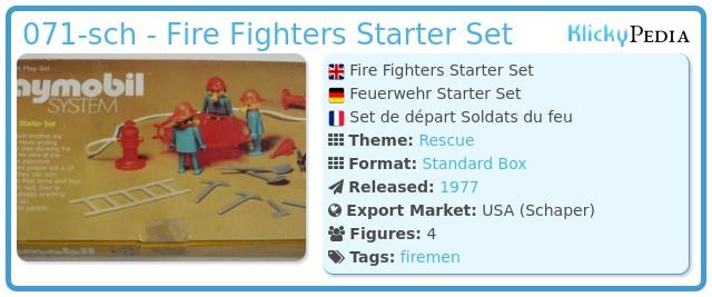 Playmobil 071-sch - Fire Fighters Starter Set