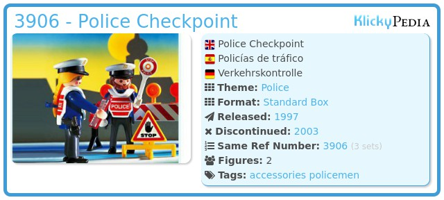 Playmobil 3906 - Police Checkpoint