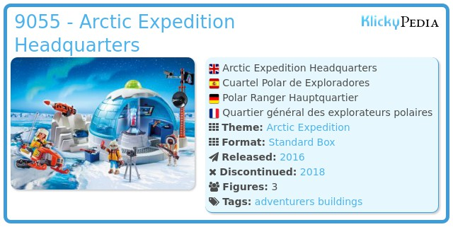 Playmobil 9055 - Arctic Expedition Headquarters