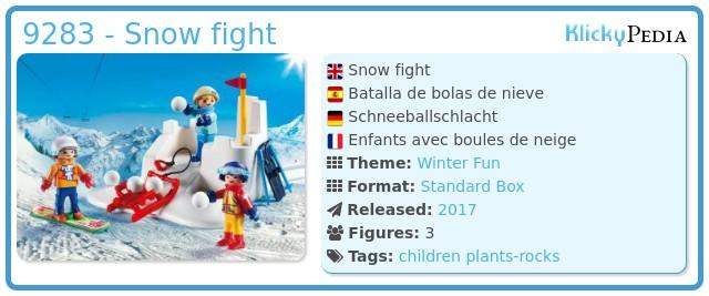 Playmobil 9283 - Snow fight
