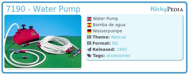 Playmobil 7190 - Water Pump