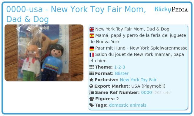 Playmobil 0000-usa - New York Toy Fair Mom, Dad & Dog