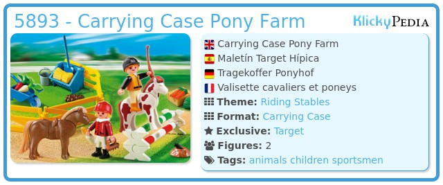 Playmobil 5893 - Carrying Case Pony Farm