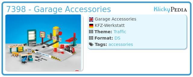 Playmobil 7398 - Garage Accessories