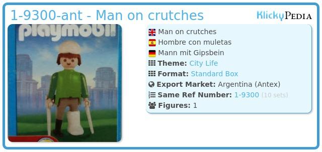 Playmobil 1-9300-ant - Man on crutches