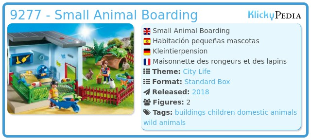Playmobil 9277 - Small Animal Boarding