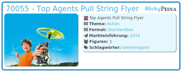 Playmobil 70055 - Top Agents Pull String Flyer