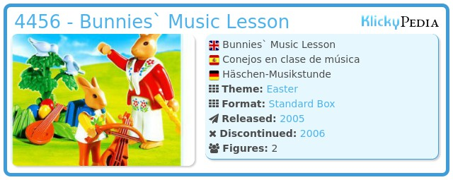 Playmobil 4456 - Bunnies` Music Lesson