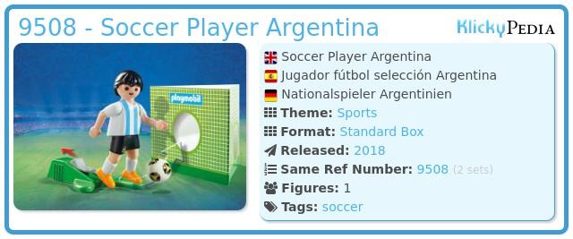 Playmobil 9508 - Soccer Player Argentina