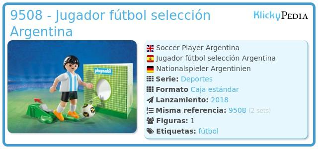 Playmobil 9508 - Jugador fútbol selección Argentina