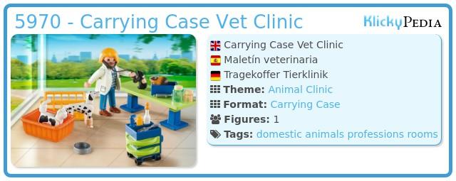 Playmobil 5970 - Carrying Case Vet Clinic