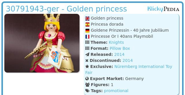 Playmobil 30791943-ger - Golden princess