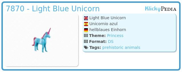 Playmobil 7870 - Light Blue Unicorn