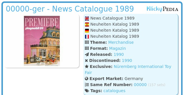 Playmobil 00000-ger - News Catalogue 1989