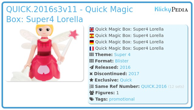 Playmobil QUICK.2016s3v11 - Quick Magic Box: Super4 Lorella